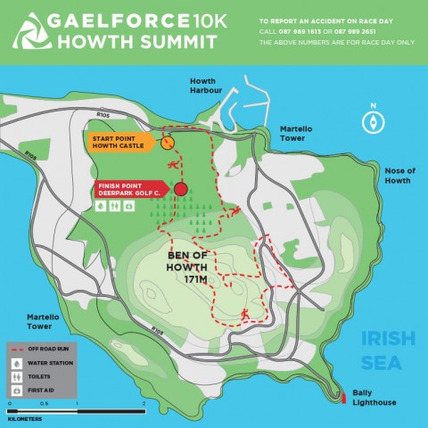 GAELFORCE HOWTH SUMMIT 10KM RUN