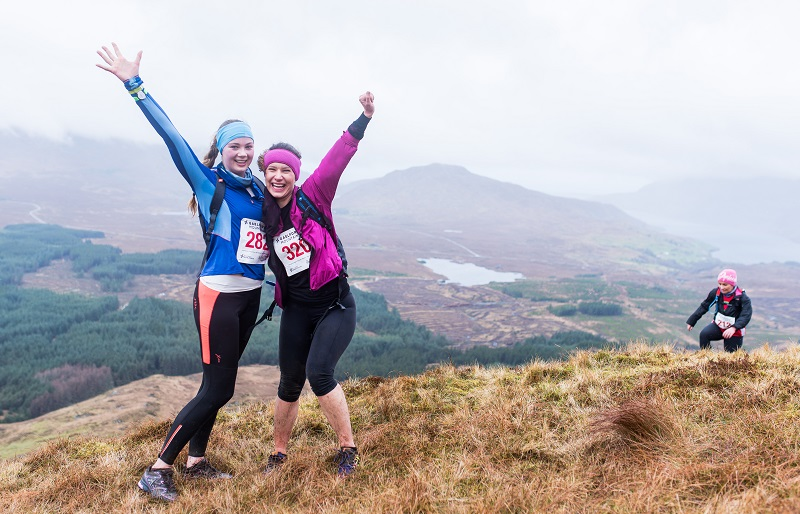 Two Women on top of the Mountain - Keeping Fit This Christmas