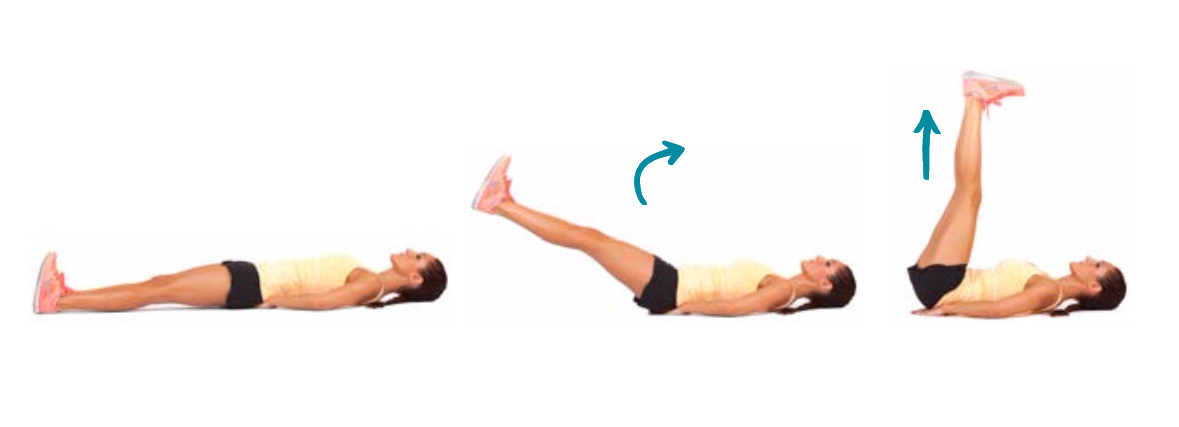 Lying Right Leg Lifts - Exercise How-to | Workout Trainer ...
